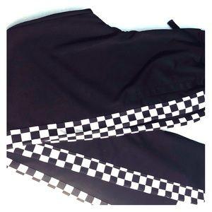 Men New Black Checkered Joggers